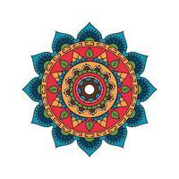 conception de mandala coloré lumineux indien vecteur