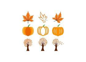 ensemble d'éléments d'automne