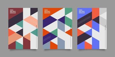 couverture géométrique abstraite à la mode vecteur