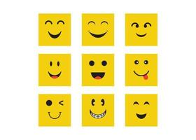 ensemble d'émoticônes de sourire vecteur
