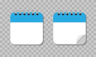icône du design plat de rappel de calendrier