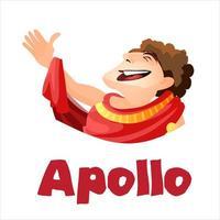 Apollon, ancien dieu des arts vecteur