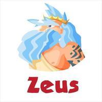 zeus, ancien dieu grec vecteur