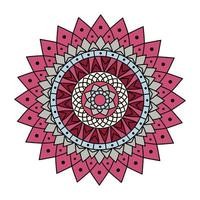mandala de couleur rose vecteur