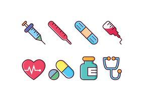Ensemble d'icônes médicales gratuites vecteur