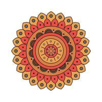 décoration de mandala coloré indien vecteur