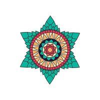conception de mandala étoile colorée indienne vecteur
