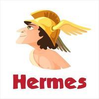 ancien dieu hermès ou mercure vecteur