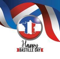 bannière de célébration du jour de la bastille française vecteur