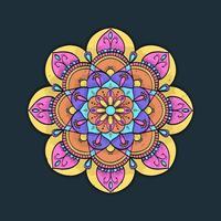 conception de fleur de mandala coloré vecteur