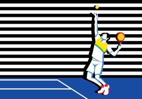 Joueur de tennis jeune-padel vecteur