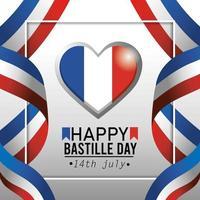 bannière de célébration nationale de la fête de la bastille française
