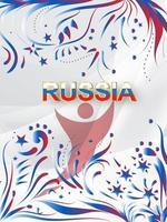 art du papier russe avec des éléments modernes et traditionnels
