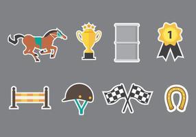 Vecteur libre d'icônes de course de baril