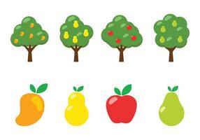 Vecteur arbre à mangue