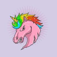 illustration de tête de licorne vecteur