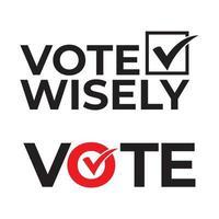 voter avec sagesse texte vecteur