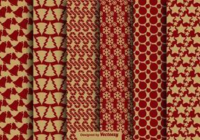 Vecteur de motif sans soudure de style vintage de Noël