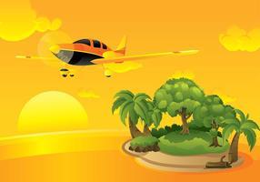 Cessna sunset vector