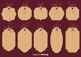 Cartes vectorielles en carton de Noël vecteur