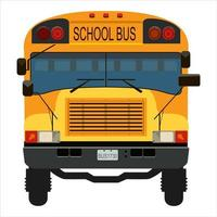 autobus scolaire jaune vecteur