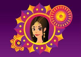 Vecteur libre de femme indienne