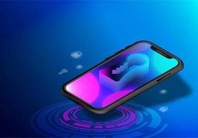 smartphone téléphone isométrique vecteur