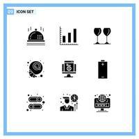 jeu d'icônes de silhouette moderne