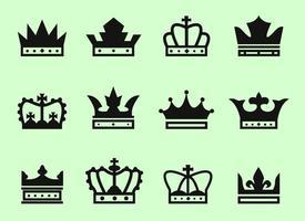 Vecteur icône de couronne libre