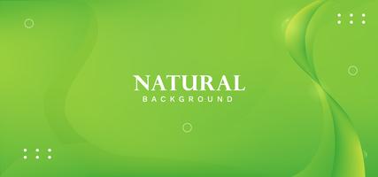 conception de vague abstraite naturelle verte vecteur