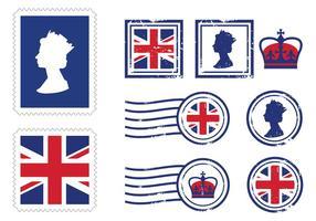 Icônes Royales du timbre royal vecteur