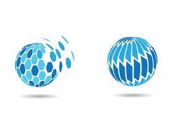 création de logo bleu mondial