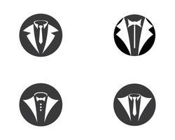 ensemble d'images de logo de smoking vecteur