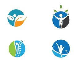 création de logo de santé humaine vecteur