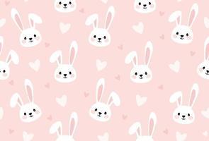 impression de dessin animé de lapin pour la texture transparente des enfants