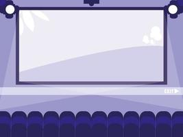 scène d'affichage de cinéma
