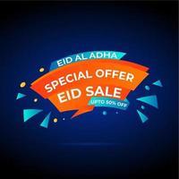 bannière offre spéciale eid vente vecteur