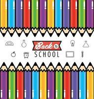 retour à la conception de fond d & # 39; école avec des crayons