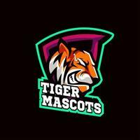 mascotte tigre sports vecteur