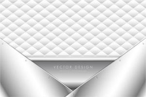 élégant fond métallique gris clair avec rembourrage blanc.