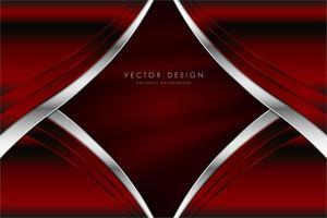 fond métallique rouge avec texture de soie. vecteur
