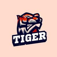 sports de mascotte de tigre vecteur