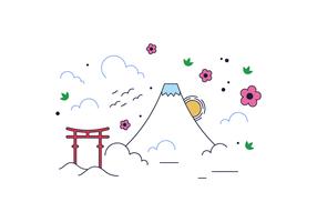 Vecteur libre de mount fuji