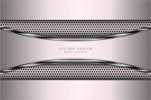 fond métallique rose avec texture en fibre de carbone. vecteur