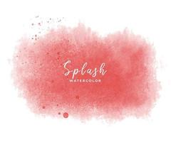 splash aquarelle rouge, gouttes