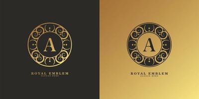 lettre ornementale un logo vecteur