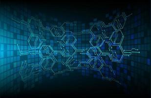 fond de technologie future cyber circuit bleu