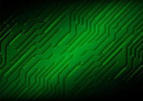 fond de concept de technologie future circuit vert vecteur