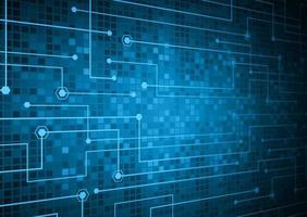 fond de technologie future cyber circuit bleu vecteur