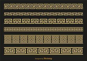 Libre versace grec clé brushers vector